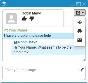 Live Chat Conversation